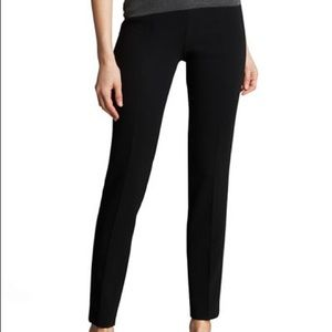 Theory Black Creased Tailored Dress Work Pants